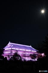 満月と臨江閣③