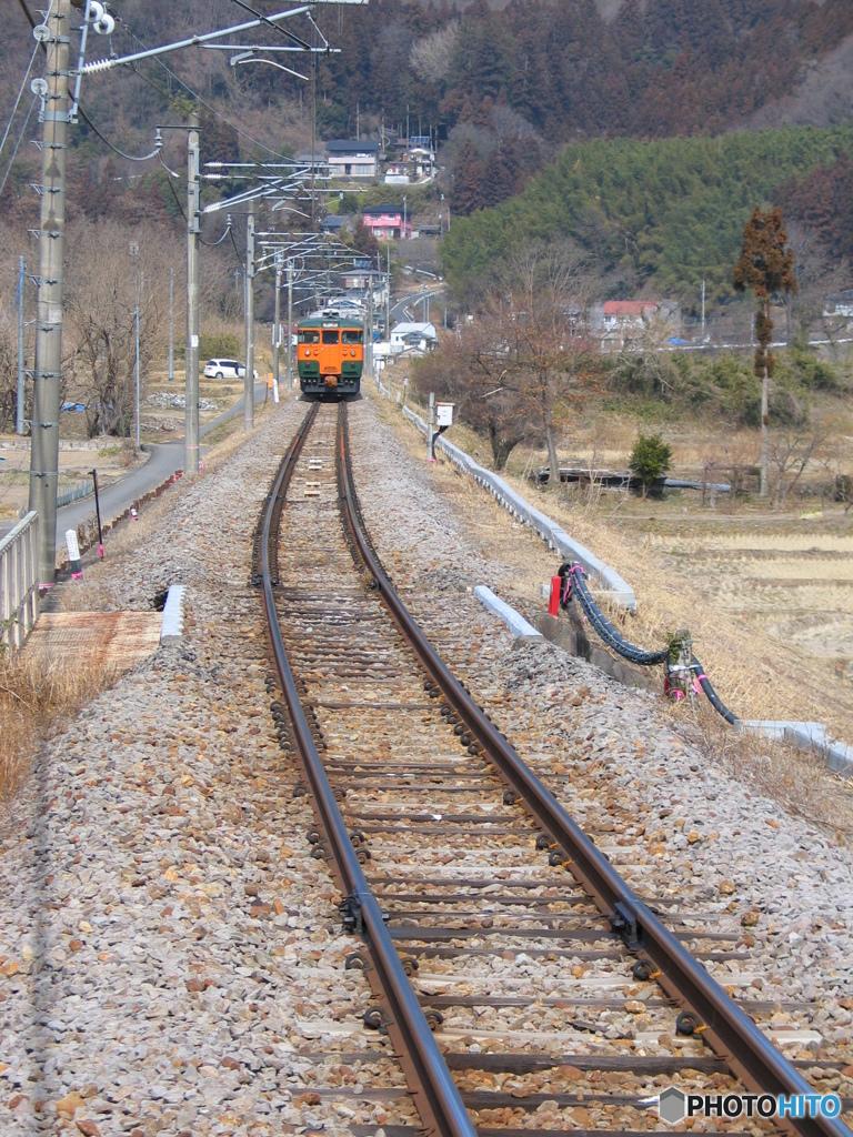 吾妻線祖母島駅にて
