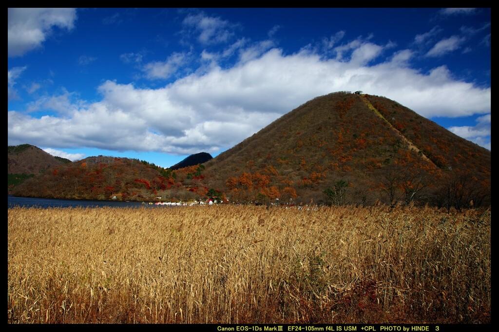 秋の榛名湖にて①