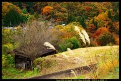 秋の六合村赤岩集落にて㉟