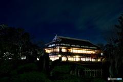 夜空に映える前橋臨江閣①