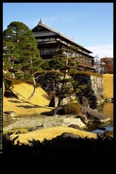 冬の臨江閣日本庭園にて⑨