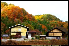 秋の六合村赤岩集落にて㊱
