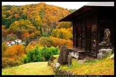 秋の六合村赤岩集落にて㉝