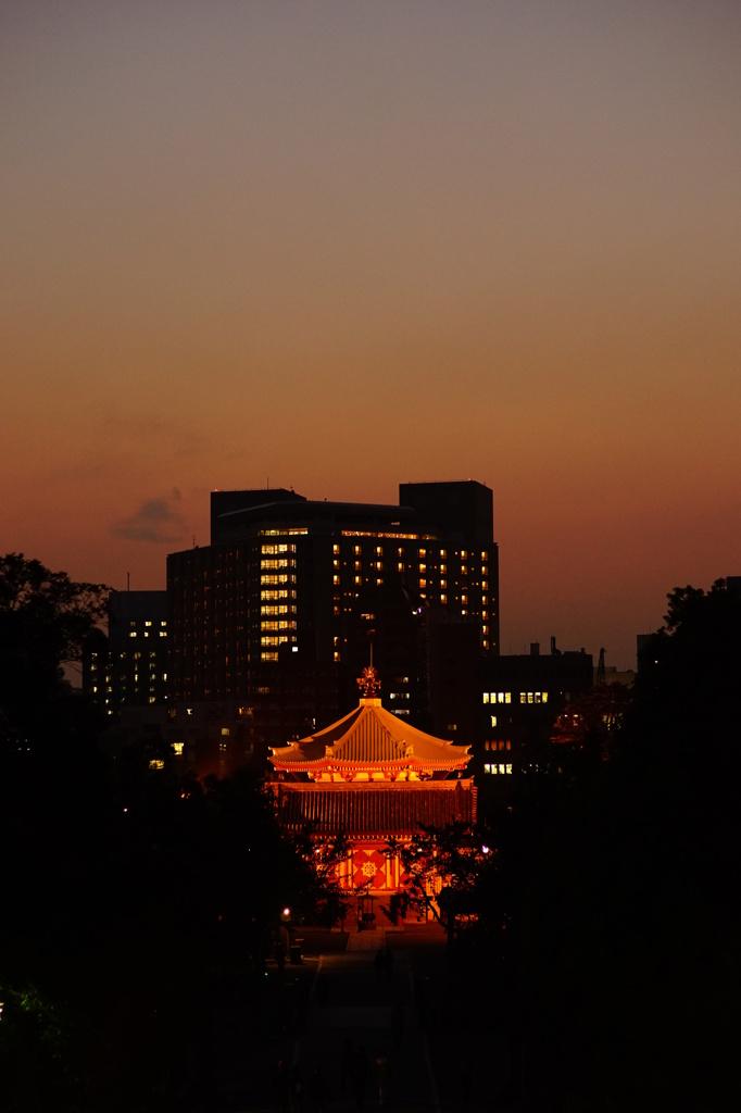 上野の夕暮れ04050