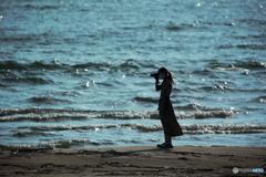 夏のカメラ女子