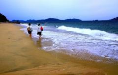 ・・砂浜・・
