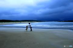 砂浜のステージ