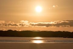 今年も年明けはこの場所の朝陽から