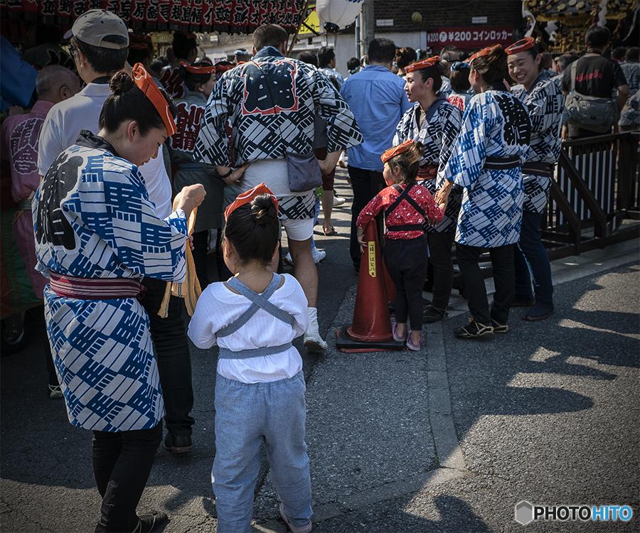 DSC05530母も子も祭り装束です