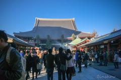 DSC05185-黄昏迫る浅草寺