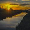 DSC08381. 秋を映して川は流れる