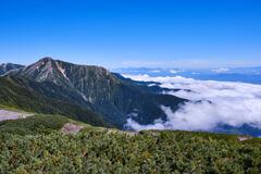 蝶ヶ岳から常念岳