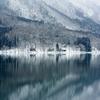 木崎湖冬景