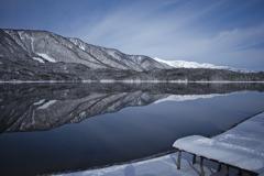 青木湖の青