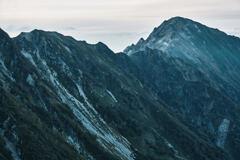 静かに暮れる稜線