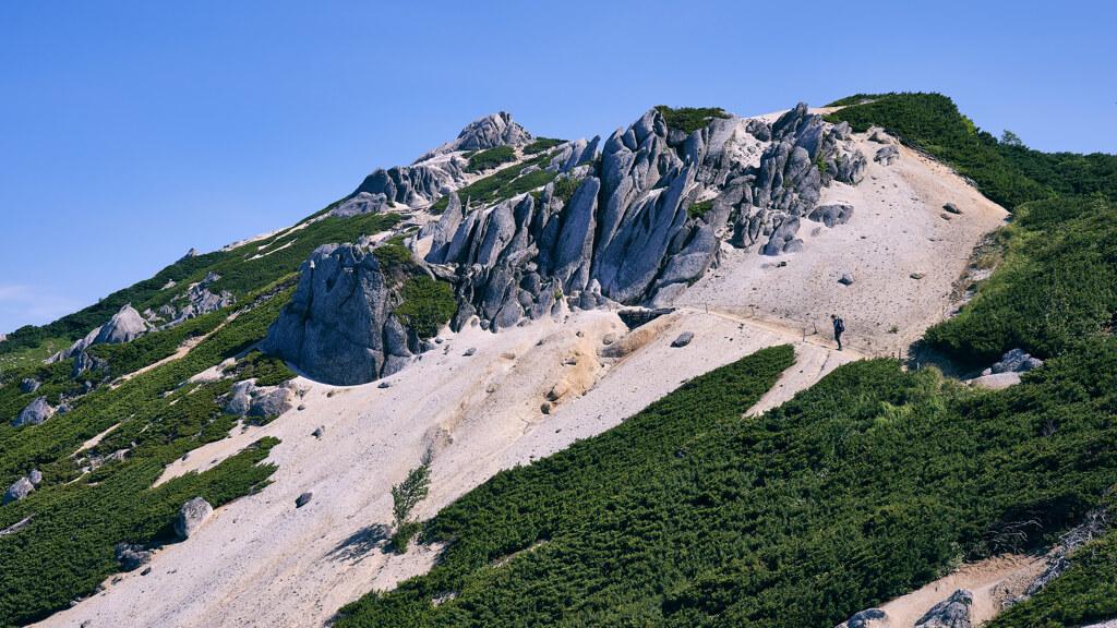燕岳の尾根道