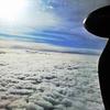 雲上から見たギリシャの空
