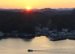 夕陽 勝浦