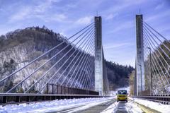 相棒と橋。