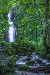 滝からの流れ