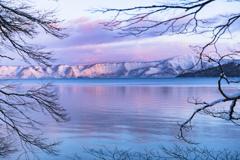 冬の十和田湖