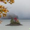 桧原湖の小島
