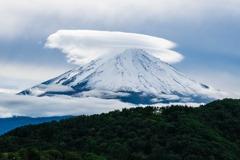 富士山と傘雲