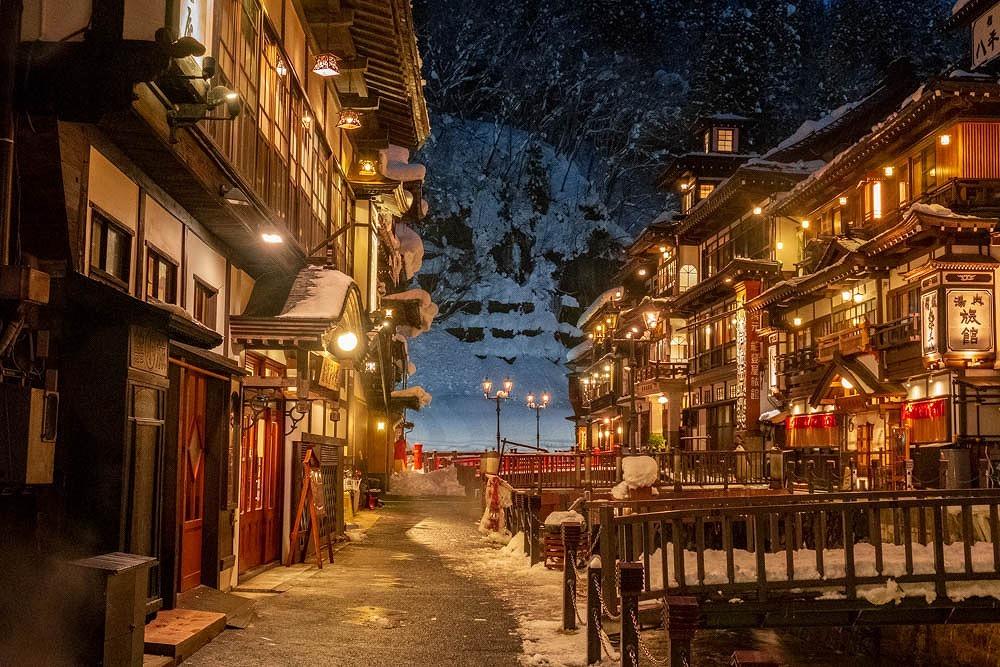銀山温泉の夕暮れ(9)