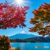 紅葉と富士山-3