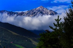夏の白馬鎗ヶ岳
