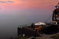 雲海の夕暮れ