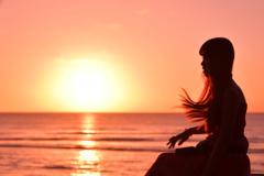 グアム島の夕陽1