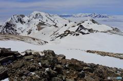 白馬三山と剣岳