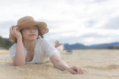 砂浜ゴロン