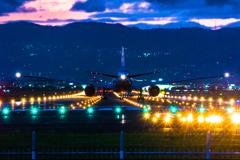 日没前の出発便