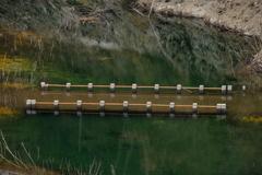 ダム湖に沈んでいた橋