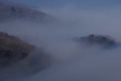 霧に包まれた里山 その2