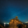 機具岩と流星