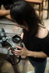 紅潮する写真機