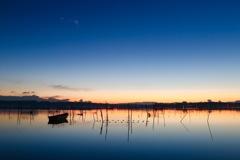 厳冬の印旛沼