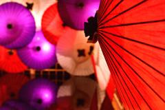 和傘の横顔
