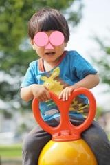 きらきら背景1歳児の写真