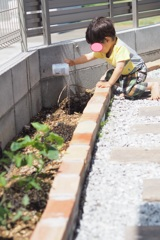 水やり1歳児