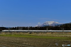 伊吹山と新幹線2