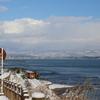 冬景色の氷見線