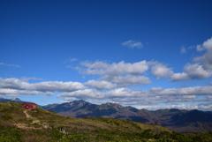 別山と避難小屋