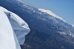 雪庇と御嶽山