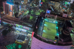 The shibuya futsal over the yamanote