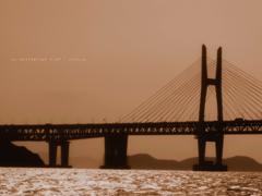 セピア色の瀬戸大橋 2